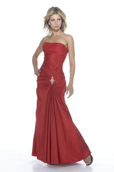 Alexia Designs - 2900 Pleated Strapless Iridescent Taffeta Gown from Alexia Designs