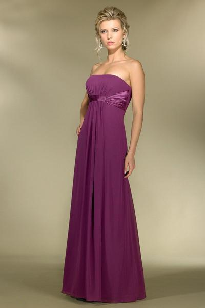 Alexia Designs - 2974 Strapless Empire Waist Chiffon A-Line Gown from Alexia Designs