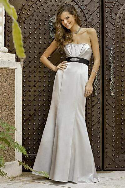 Alexia Designs - 4050 Strapless Pleated Bodice Trumpet Gown from Alexia Designs