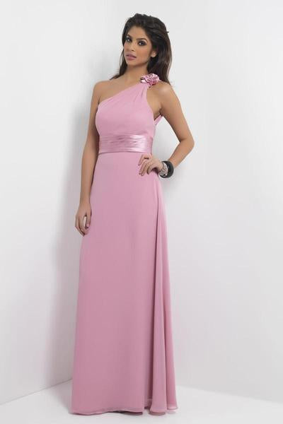 Alexia Designs - 4096 Rosette One Shoulder Pleated Sheath Dress from Alexia Designs