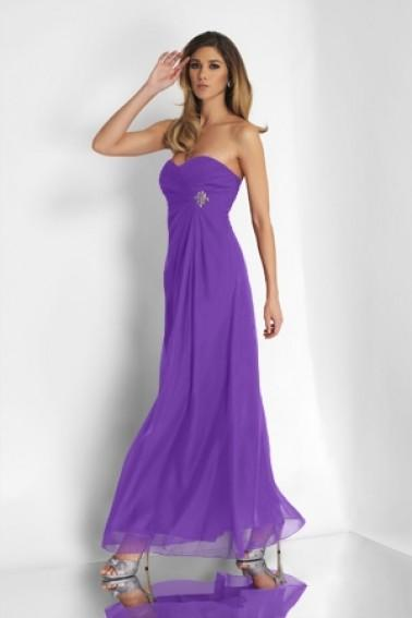 Alexia Designs - 4100 Strapless Empire Waist Chiffon Gown from Alexia Designs