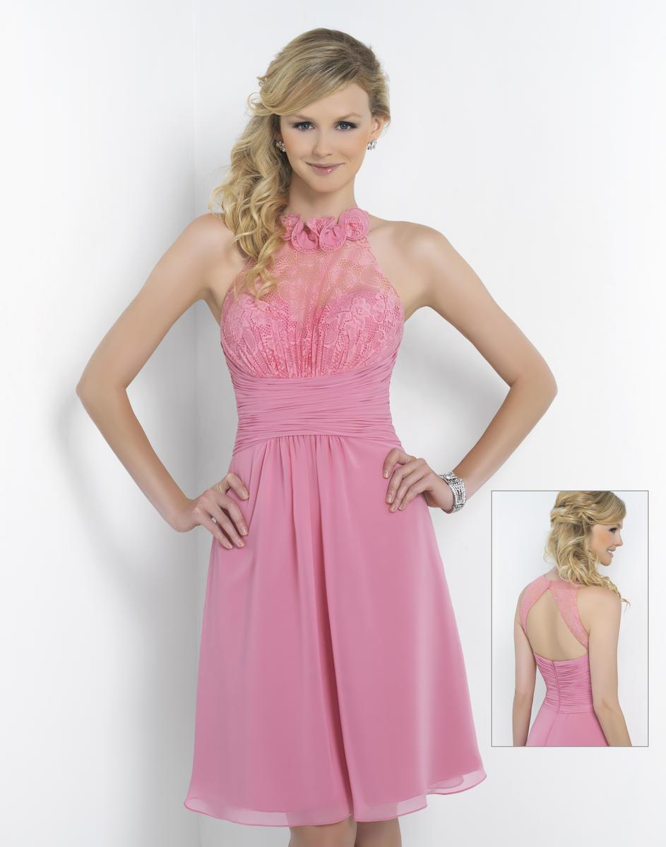 Alexia Designs - 4184 Floral Halter Lace Chiffon A-line Dress from Alexia Designs