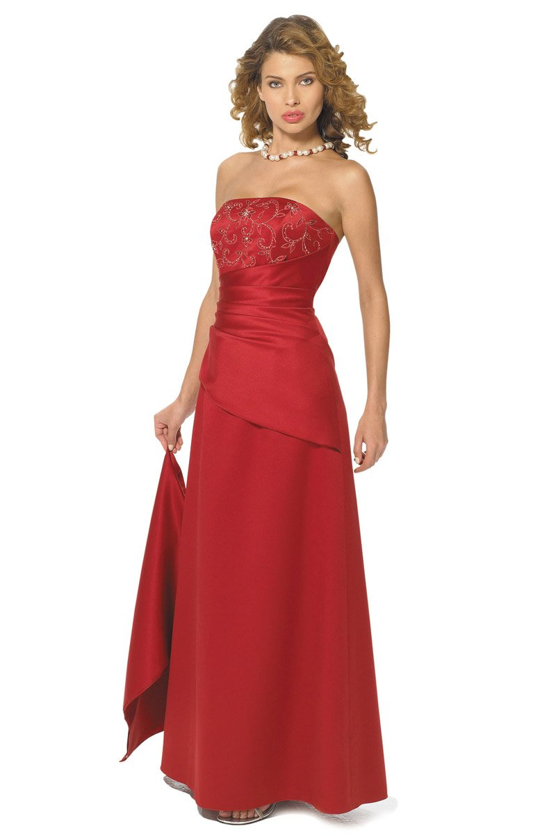 Alexia Designs - 602 Strapless Pleated A-Line Dress from Alexia Designs