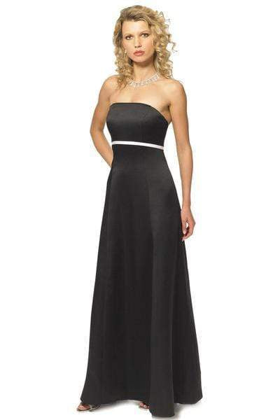 Alexia Designs - 610 Strapless Satin Button Accented A-line Gown from Alexia Designs