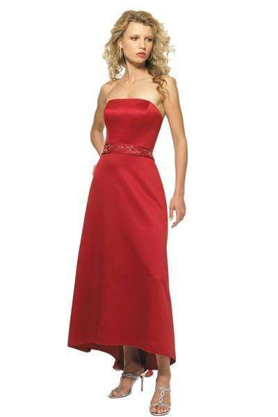 Alexia Designs - 800 Beaded Accented Waistband Satin A-Line Gown from Alexia Designs