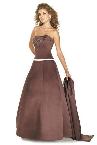 Alexia Designs - 804 Prima Satin Strapless A-Line Gown from Alexia Designs