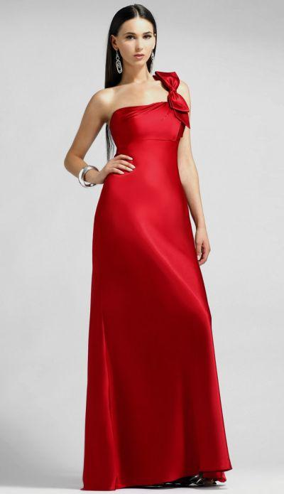 Alexia Designs - 870 One Shoulder Charmeuse A-line Dress from Alexia Designs