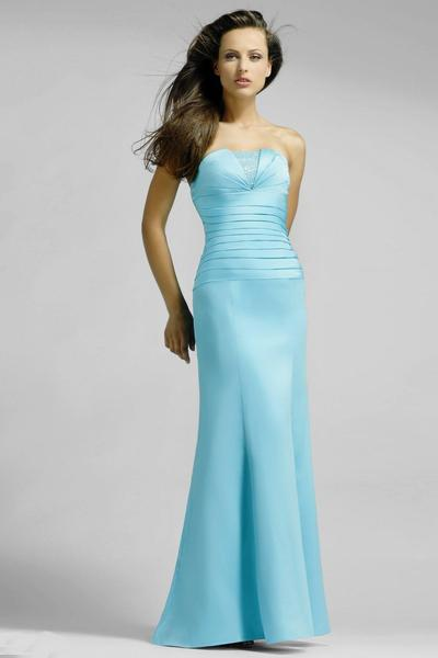 Alexia Designs - 902 Strapless Pleated Bodice Beaded Satin Gown from Alexia Designs