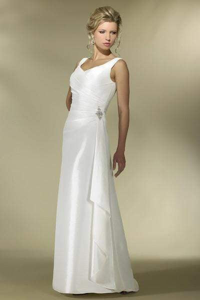 Alexia Designs - IB03 Pleated V-Neck A-Line Bridal Dress from Alexia Designs