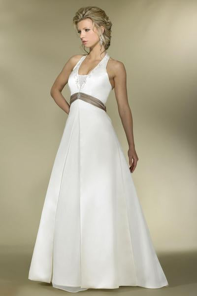 Alexia Designs - IB11 Plunging Halter Bead Embroidered A-Line Gown from Alexia Designs
