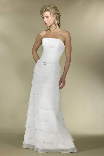 Alexia Designs - IB14 Strapless Tiered A-Line Bridal Gown from Alexia Designs