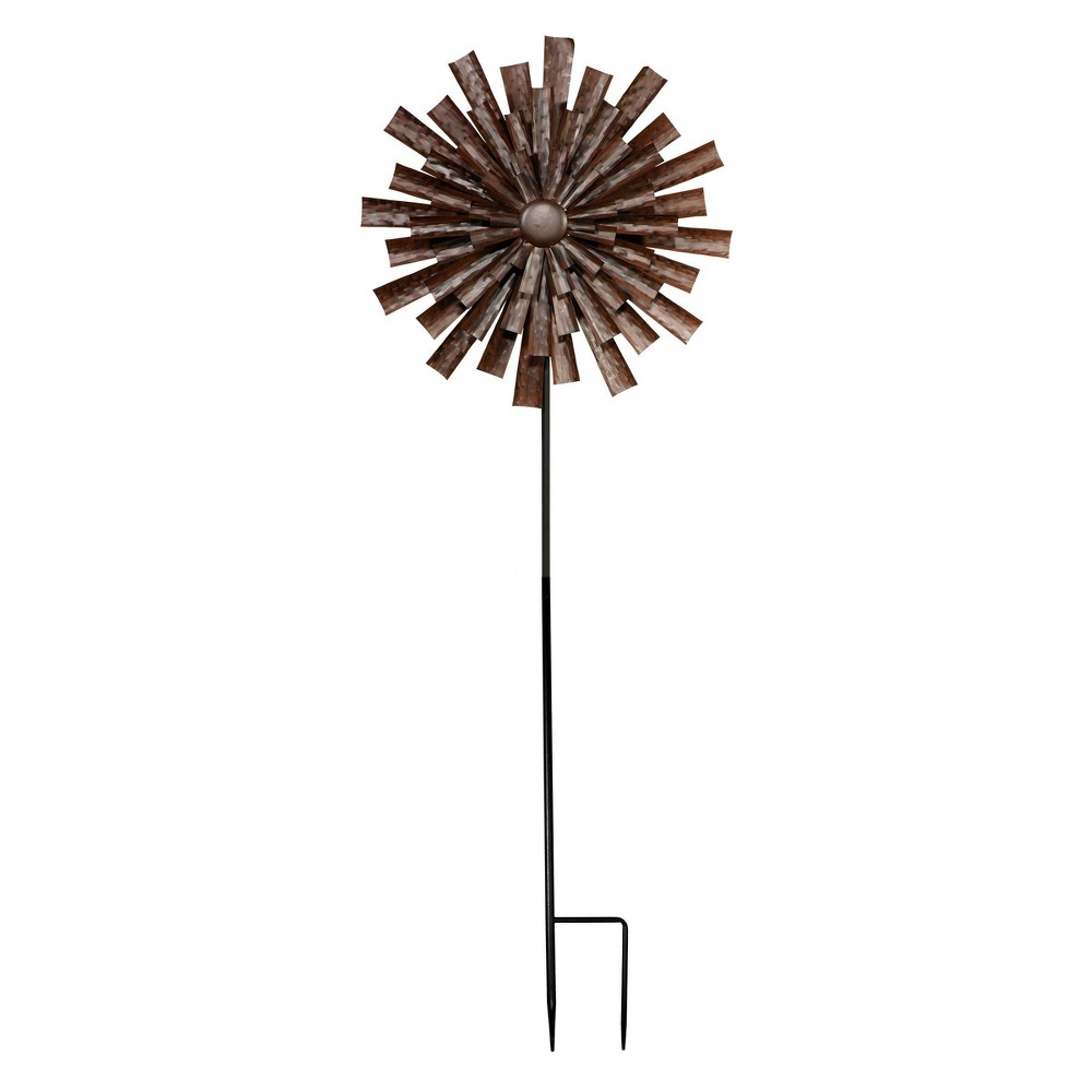 Alpine Floral Kinetic Wind Spinner Stake Bronze from Alpine Corporation