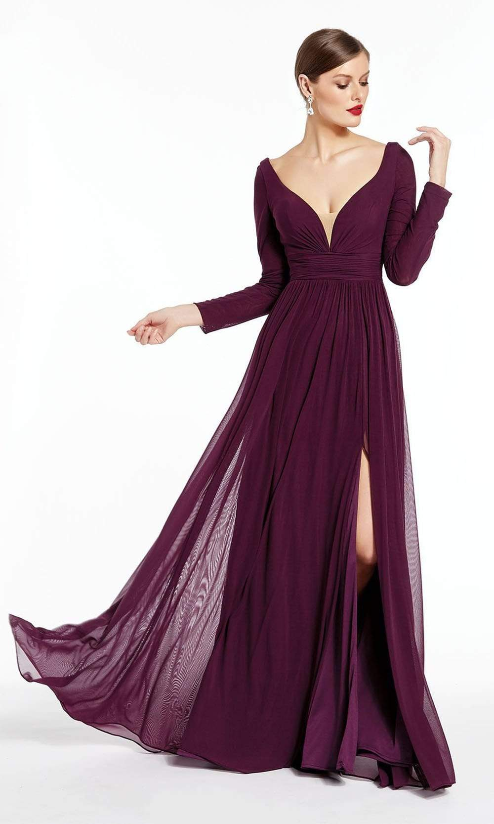 Alyce Paris - 27304 Long Sleeves Mesh Jersey Evening Dress from Alyce Paris