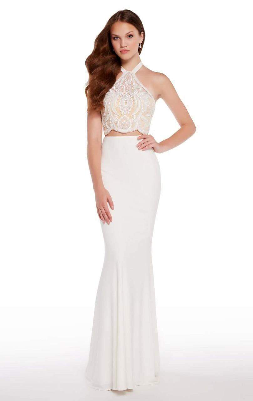 Alyce Paris - 60021 Two Piece Embroidered Halter Dress from Alyce Paris