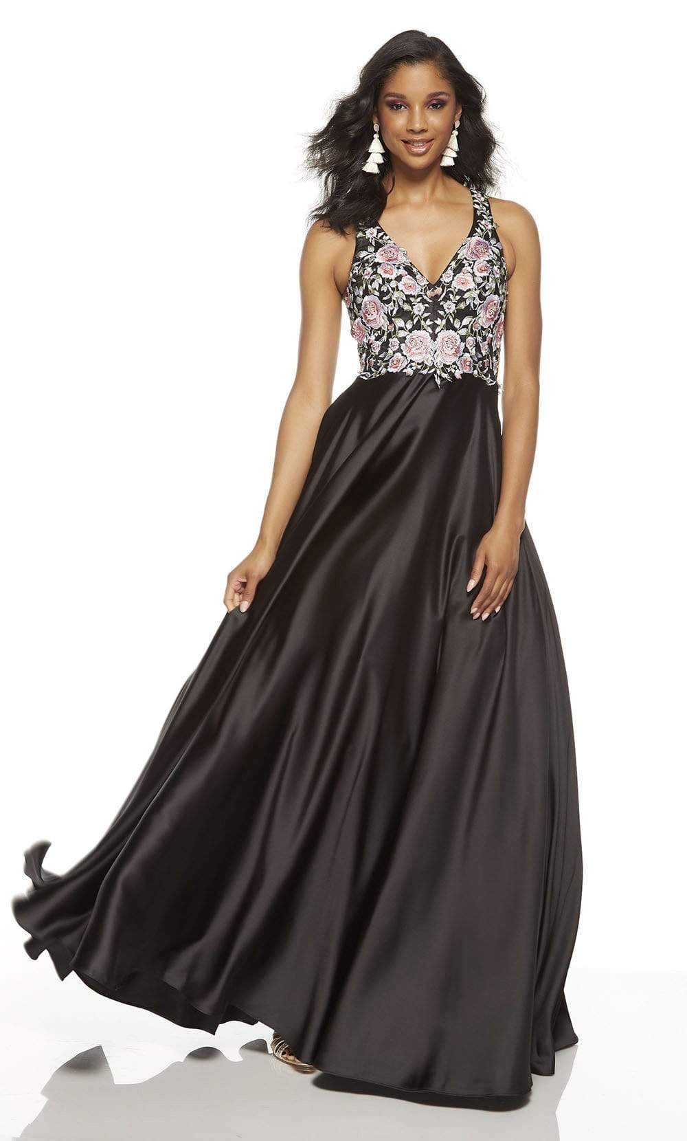 Alyce Paris - 60645 Floral Embroidered A-line Dress from Alyce Paris