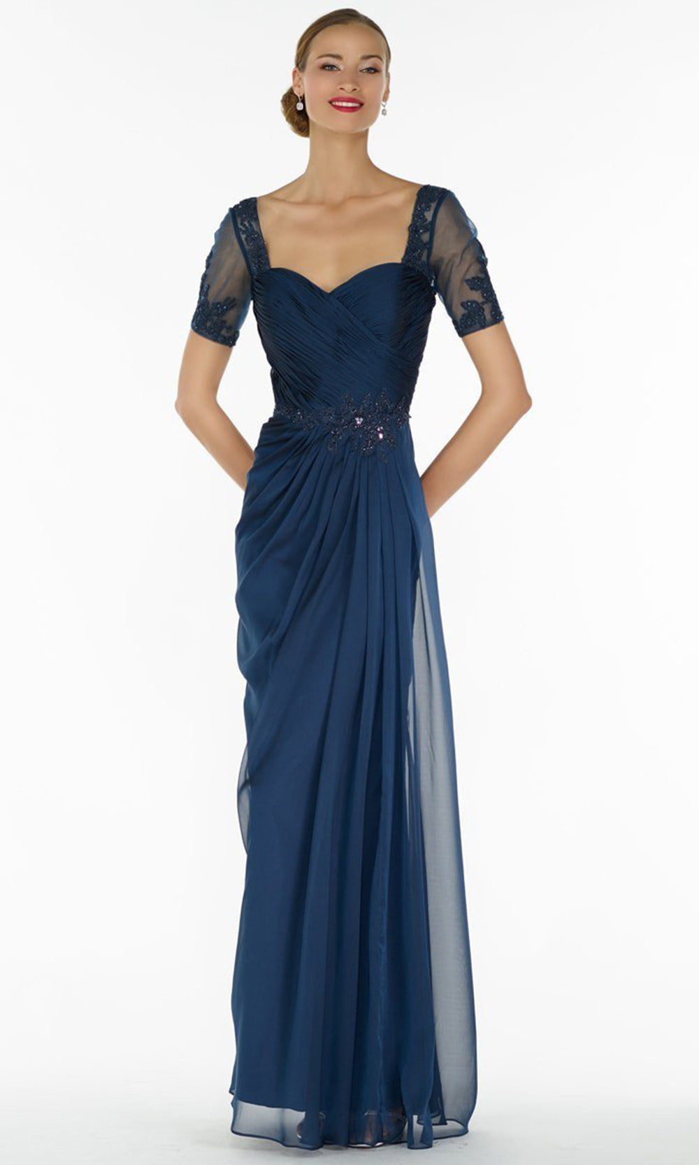 Alyce Paris - Black Label - 29580 Lace Embellished Chiffon Long Gown from Alyce Paris