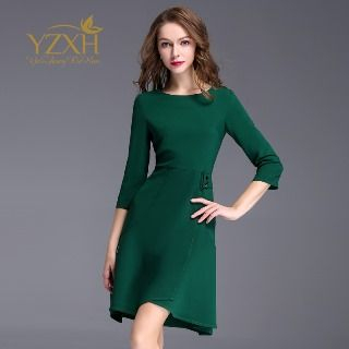 3/4-Sleeve A-Line Dress from Ameous