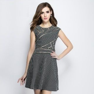 Sleeveless Check Dress from Ameous