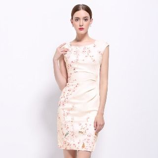 Sleeveless Floral Sheath Dress from Ameous