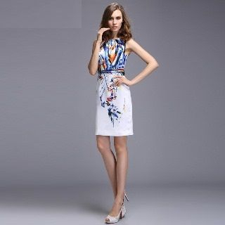 Sleeveless Printed Dress from Ameous