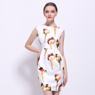 Sleeveless Printed Sheath Dress from Ameous