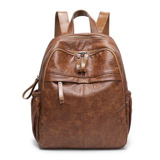 Faux-Leather Backpack from Annmuu