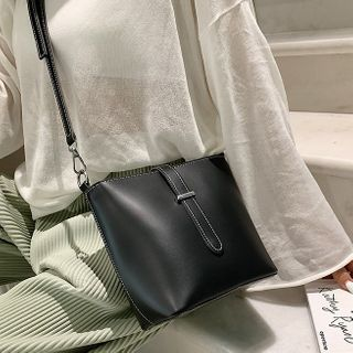 Faux Leather Bucket Bag from Annmuu