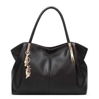 Faux Leather Tote Bag from Annmuu