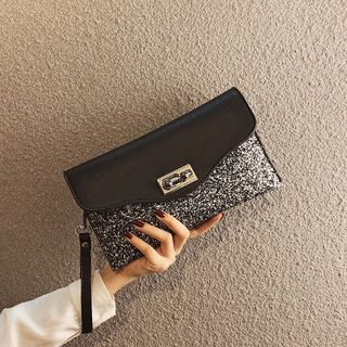 Glitter Faux Leather Clutch from Annmuu