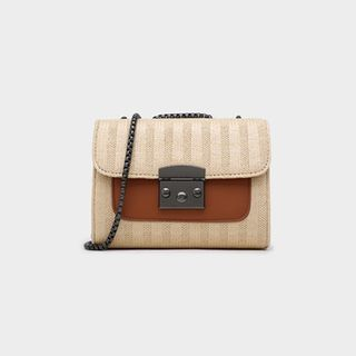 Striped Flap Crossbody Bag from Annmuu