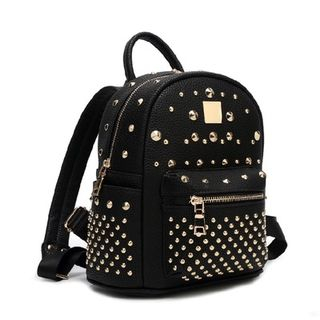 Studded Faux-Leather Backpack from Annmuu