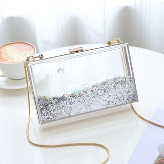 Transparent Glitter Crossbody Bag from Annmuu