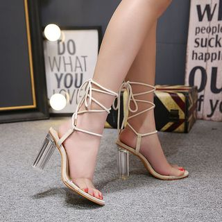 High Heel Lace Up Sandals from Anran