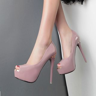 Peep Toe High Heel Pumps from Anran