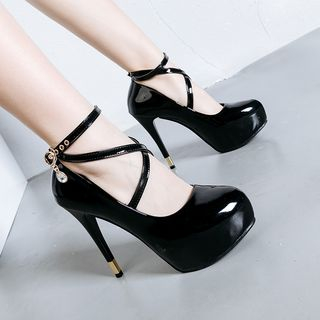 Strap High Heel Pumps from Anran