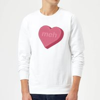 Meh Sweatshirt - White - L - White from The Valentines Collection