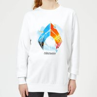 Aquaman Back To The Beach Women's Sweatshirt - White - L - White from Aquaman