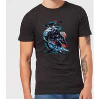 Aquaman Black Manta & Ocean Master Men's T-Shirt - Black - M - Black from Aquaman