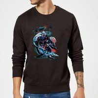 Aquaman Black Manta & Ocean Master Sweatshirt - Black - XXL - Black from Aquaman