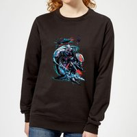 Aquaman Black Manta & Ocean Master Women's Sweatshirt - Black - S - Black from Aquaman