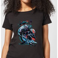 Aquaman Black Manta & Ocean Master Women's T-Shirt - Black - L - Black from Aquaman