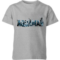 Aquaman Chest Logo Kids' T-Shirt - Grey - 7-8 Years - Grey from Aquaman
