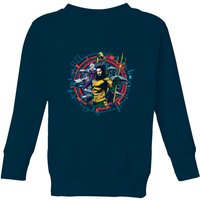 Aquaman Circular Portrait Kids' Sweatshirt - Navy - 11-12 Years - Navy from Aquaman