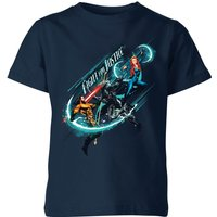 Aquaman Fight for Justice Kids' T-Shirt - Navy - 11-12 Years - Navy from Aquaman