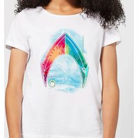Aquaman Mera Beach Symbol Women's T-Shirt - White - XXL - White from Aquaman