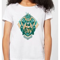 Aquaman Seven Kingdoms Women's T-Shirt - White - L - White from Aquaman