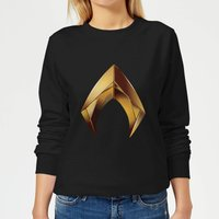 Aquaman Symbol Women's Sweatshirt - Black - L - Black from Aquaman