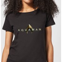 Aquaman Title Women's T-Shirt - Black - L - Black from Aquaman