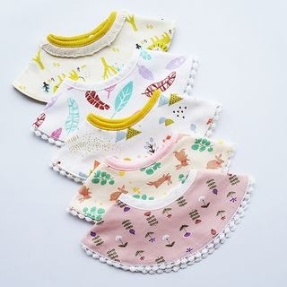Baby Printed Round Neckerchief (various designs) from Arelia