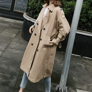Double-Breasted Midi Trench Coat from Ariadne
